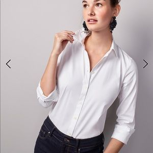 BRAND NEW Ann Taylor white button down shirt